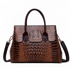 Female bag 2020 new European and American fashion ladies bag crocodile pattern shoulder messenger handbag female big bag