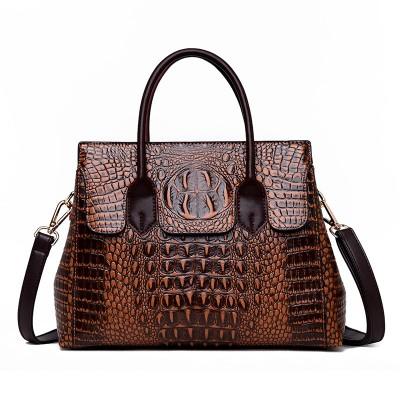 Female bag 2020 new European and American fashion ladies bag crocodile pattern shoulder messenger handbag female big bag