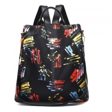 Backpack female college style printed Korean style computer bag simple and fresh junior high school student schoolbag