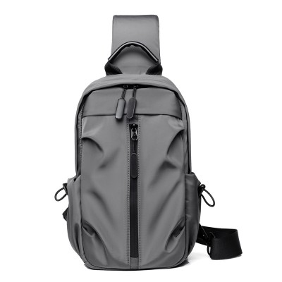 Chest bag men's diagonal bag fashion chest bag business casual shoulder bag multifunctional small backpack men's bag