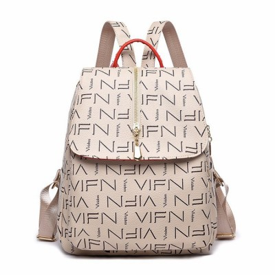 School bag new style backpack AliExpress European and American fashion printing backpack multifunctional mummy bag