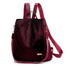 2020 new Korean fashion sequined shoulder bag female oxford cloth anti-theft backpack trend
