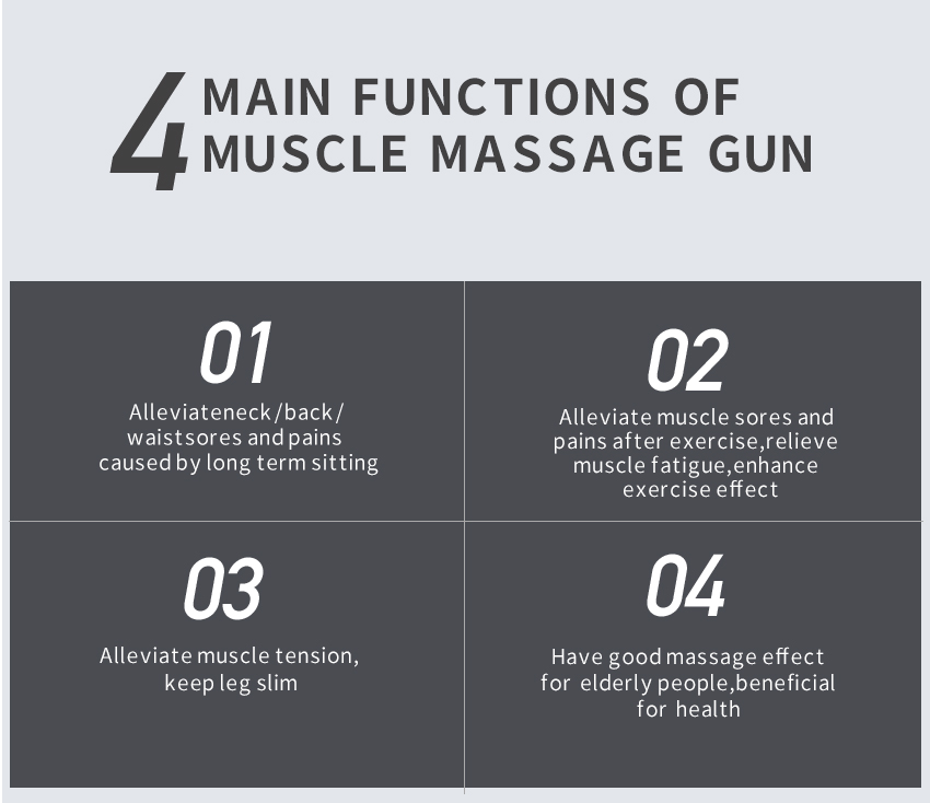 Muscle Massage Gun Sport Therapy Massager Body Relaxation Pain Relief Slimming Shaping Massager 2