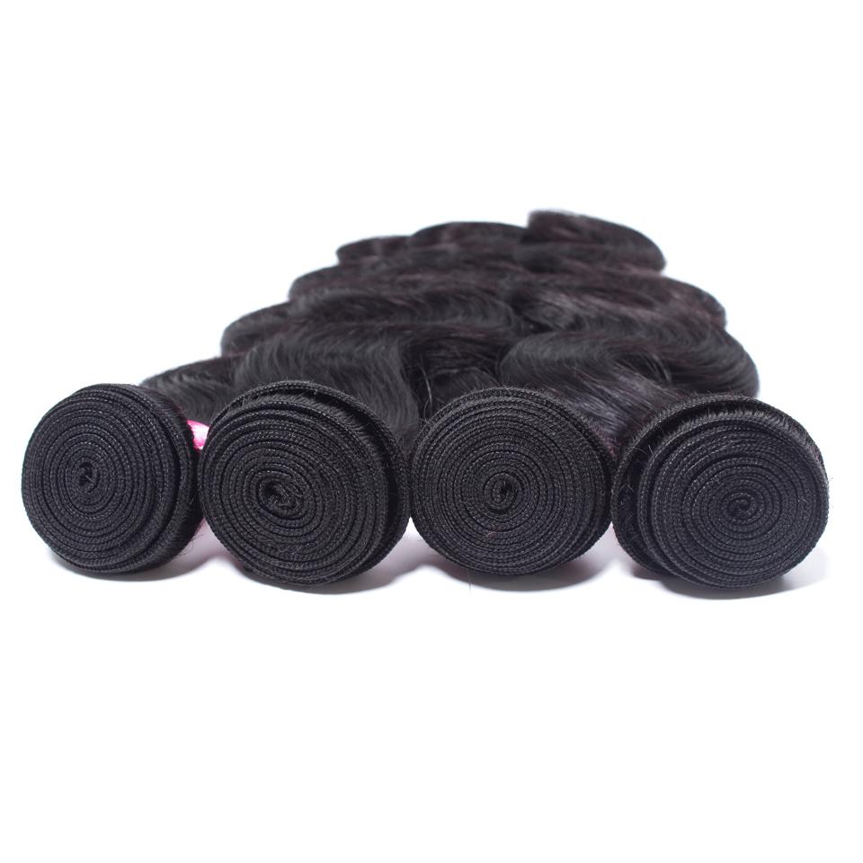 Indian Hair Bodywave Hair Bundles 100% Natural Human Hair  Bundles Double Wefts Thick Remy Hair 3