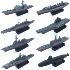 8 Sets 3D-Puzzle Model Battleship Aircraft Carrier Toy Submarine Plastic Model Warships Ship Kits Navy Ship Battleship Models for Collection by Kvvdi