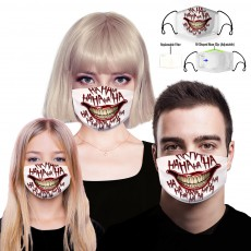 Men and women PM2.5 cotton dustproof 3D printed masks can replace the filter 2PCS/pack