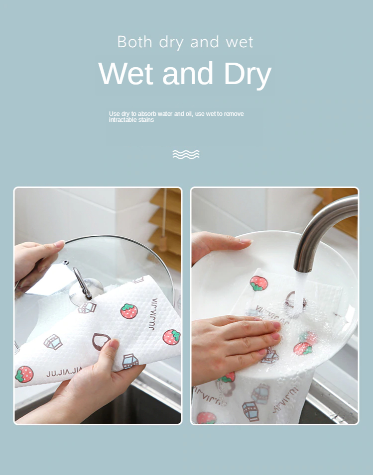 Lazy rags can be washed thickened wet and dry disposable non-woven fabrics kitchen housework cleaning supplies dish towels 1