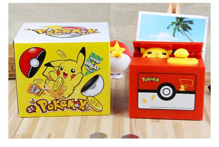 Steal money cat piggy bank Pikachu piggy bank net red the same paragraph children's birthday gift piggy box boys and girls 6