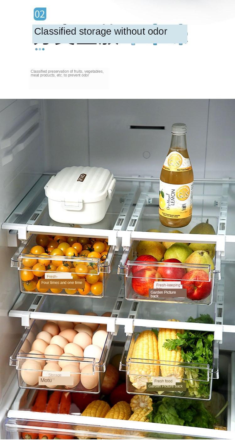 Home Refrigerator Storage Box Artifact Drawer Dedicated Food Storage Box Food Plastic Box Rectangular Egg Box 4