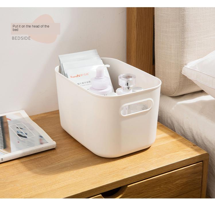 Home Furnishing Storage Box with Lid Office Desktop Storage Box Plastic Wardrobe Dustproof Clothing Sorting Box 6