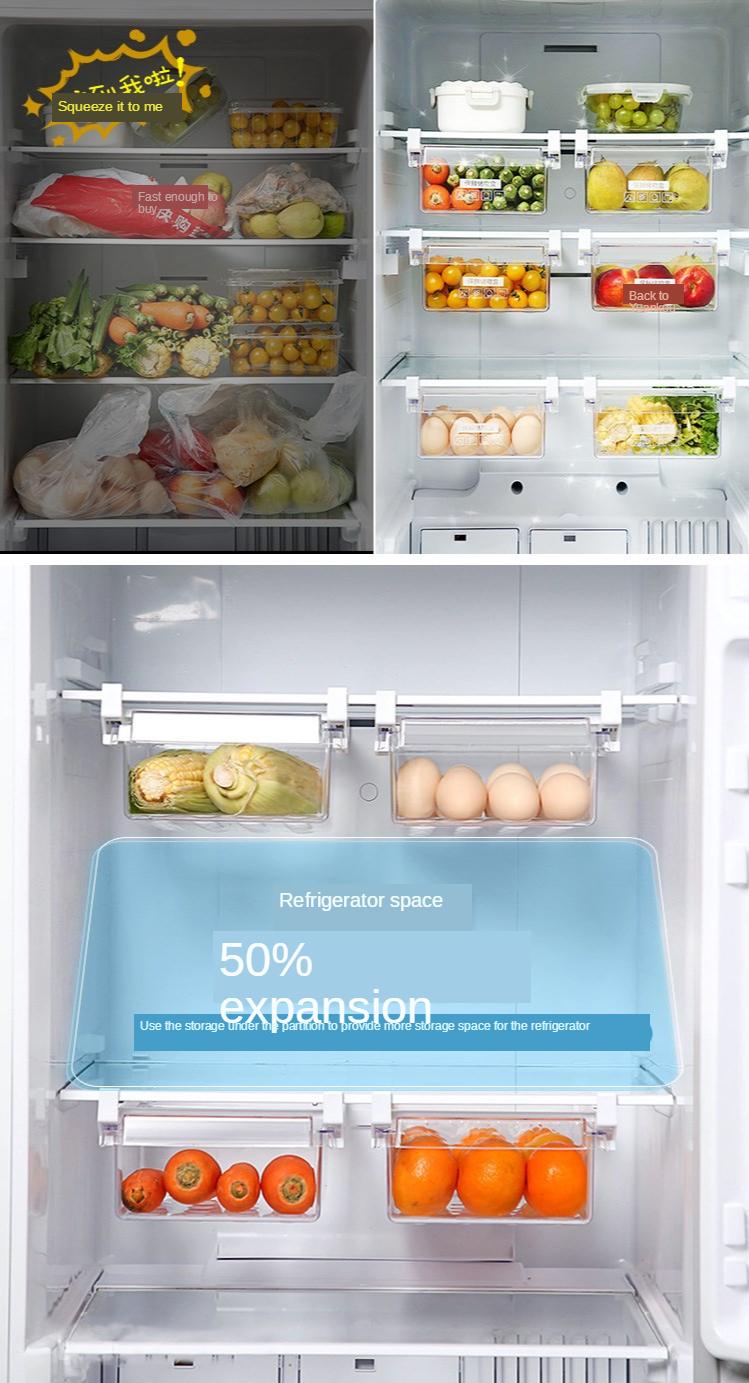 Home Refrigerator Storage Box Artifact Drawer Dedicated Food Storage Box Food Plastic Box Rectangular Egg Box 2
