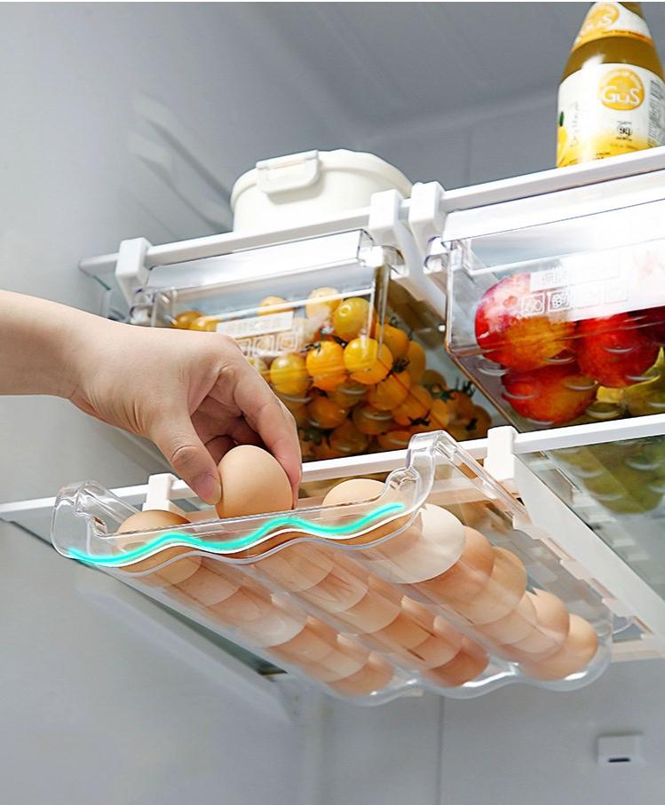 Home Refrigerator Storage Box Artifact Drawer Dedicated Food Storage Box Food Plastic Box Rectangular Egg Box 7
