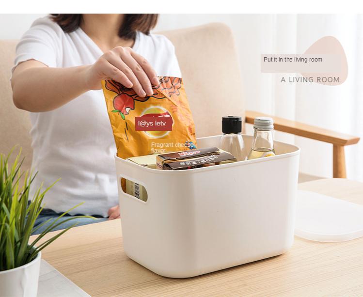 Home Furnishing Storage Box with Lid Office Desktop Storage Box Plastic Wardrobe Dustproof Clothing Sorting Box 7