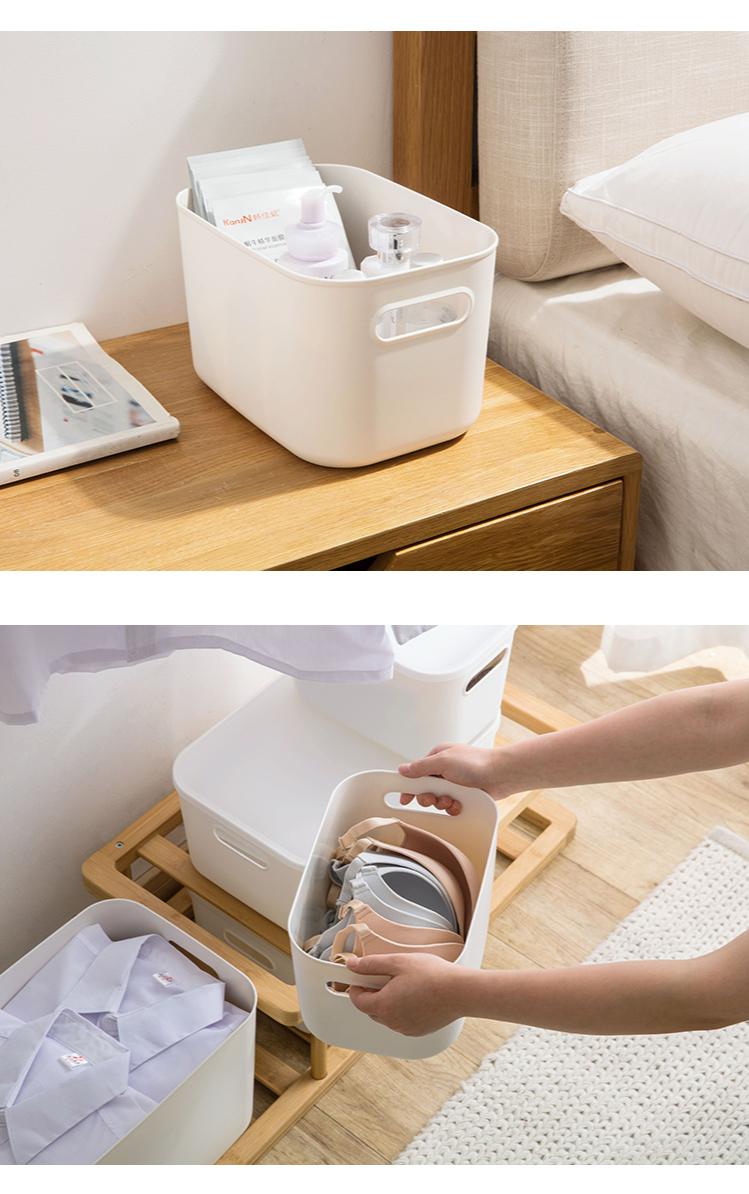 Home Furnishing Storage Box with Lid Office Desktop Storage Box Plastic Wardrobe Dustproof Clothing Sorting Box 8