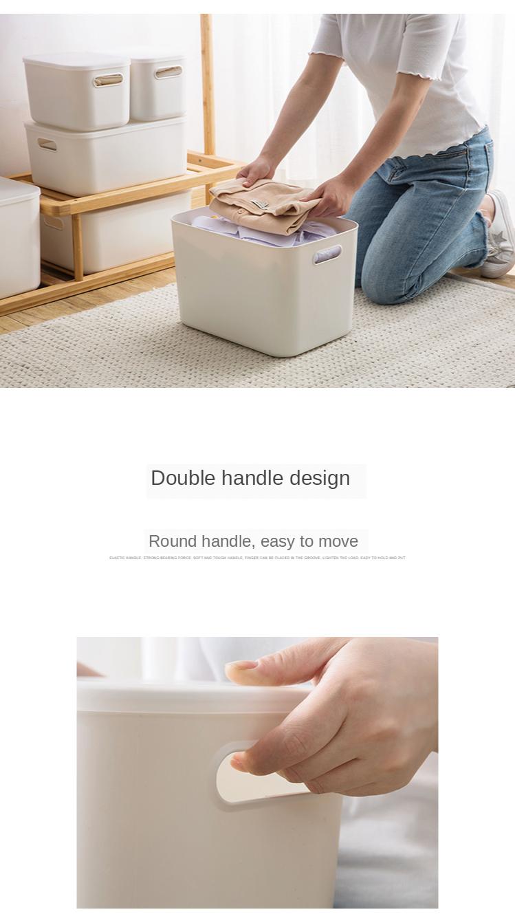 Home Furnishing Storage Box with Lid Office Desktop Storage Box Plastic Wardrobe Dustproof Clothing Sorting Box 1