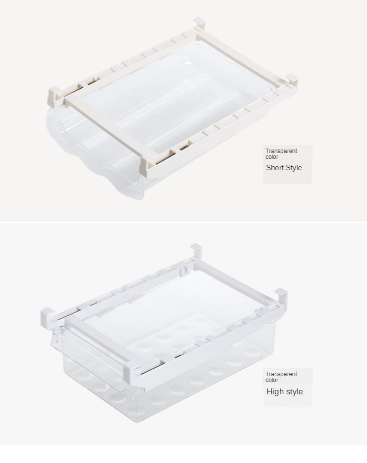 Home Refrigerator Storage Box Artifact Drawer Dedicated Food Storage Box Food Plastic Box Rectangular Egg Box 11