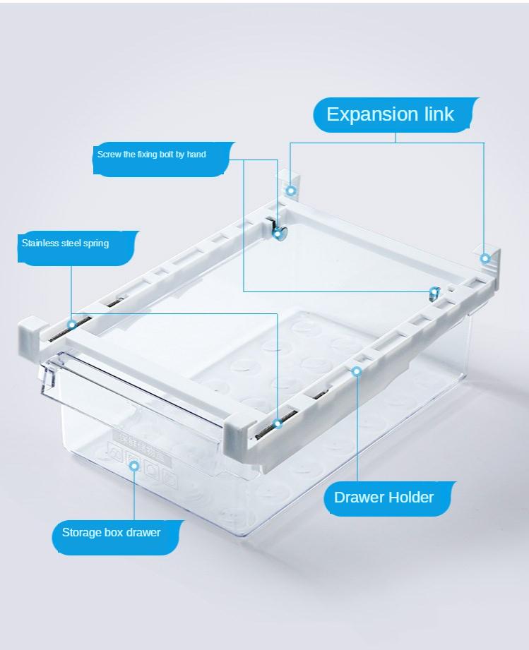 Home Refrigerator Storage Box Artifact Drawer Dedicated Food Storage Box Food Plastic Box Rectangular Egg Box 10
