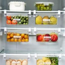 Home Refrigerator Storage Box Artifact Drawer Dedicated Food Storage Box Food Plastic Box Rectangular Egg Box