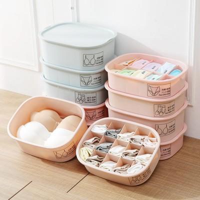 Closet compartment underwear storage box dormitory student drawer type underwear finishing underwear socks plastic storage box