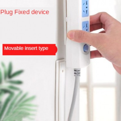 Socket strip plug-in board holder wall-mounted plug-in wire on the wall, paste-type nail-free wall plug-in board, traceless and strong
