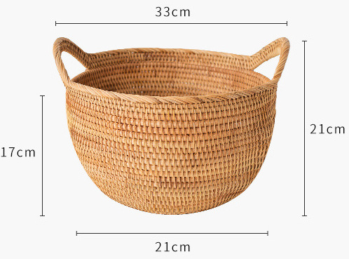 Hand-woven multifunctional storage fruit portable blue buns and bread storage basket 2