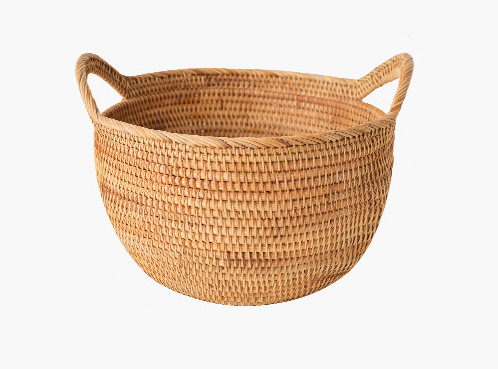 Hand-woven multifunctional storage fruit portable blue buns and bread storage basket 0