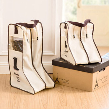 Home boot storage bag Shoe storage bag Visual dustproof boot cover 2