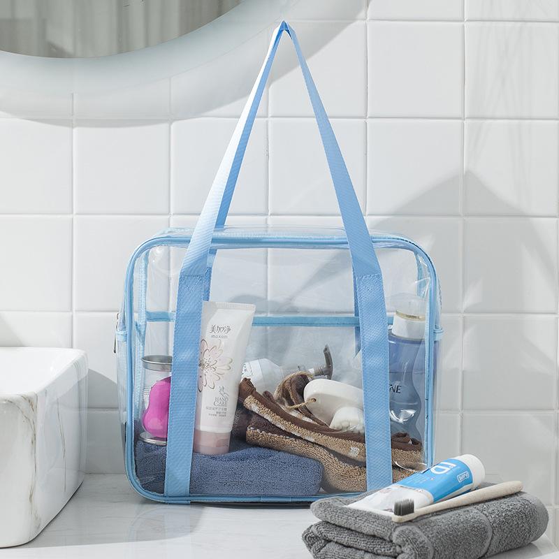 Capacity transparent toilet bag PVC handbag storage cosmetic bag shower bag waterproof travel storage bag 0