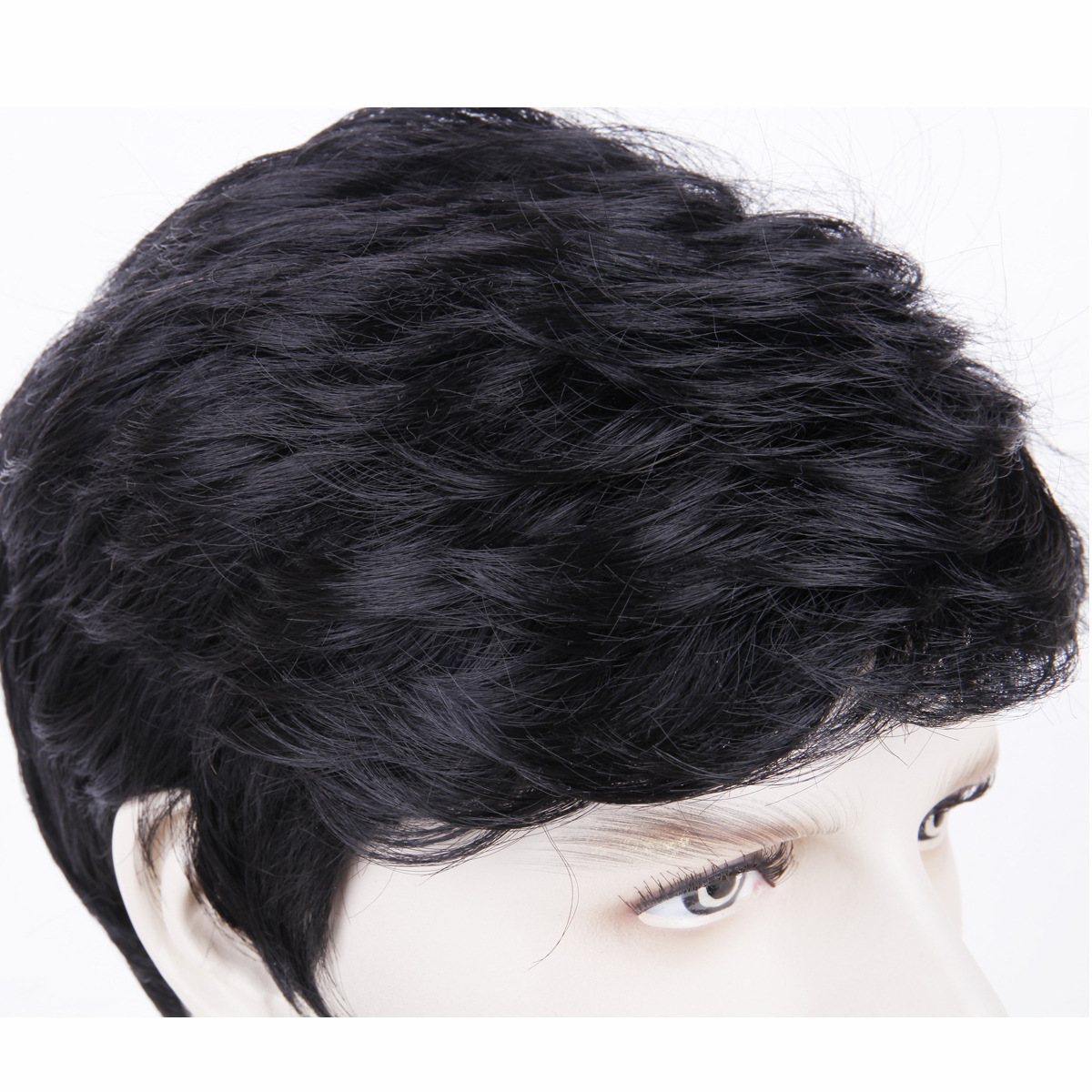 Wig male short hair men's wig black chemical fiber hair cover synthetic wigs men's wig 2