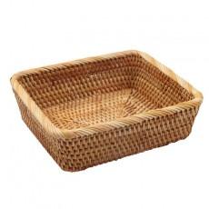 Rattan storage basket, picnic basket, fruit, vegetable, candy, snack, biscuit storage basket set of three