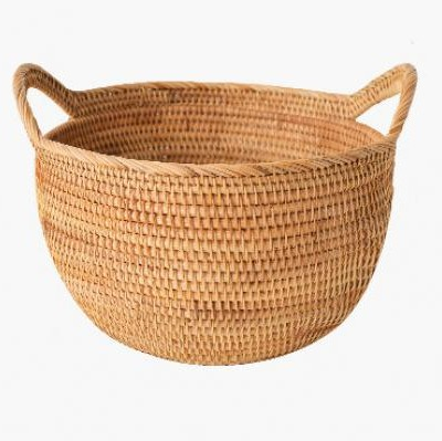 Hand-woven multifunctional storage fruit portable blue buns and bread storage basket