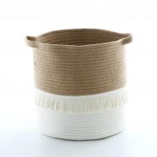 Nordic ins cotton tassel storage basket woven finishing basket Nordic home finishing box children's room decoration