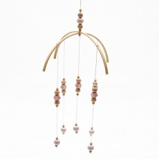 New ins Nordic style wooden bead wind chime bed bell children's room decoration living room shop decoration photography props