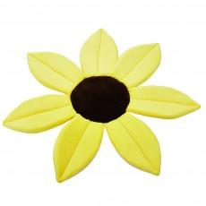 Cute cartoon sunflower flower cushion baby bathing bath pocket cushion bathing baby safety petal pad bath mat