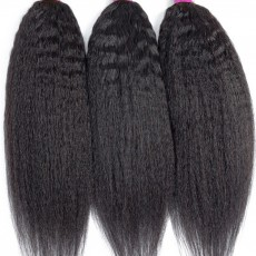 Kinky Straight Hair Bundles Brazilian Hair Weave Bundles Remy 100% Human Hair Extensions 28 30 Inch Bundles Yaki Hair Extension