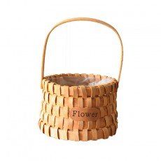 Basket rattan hand-held flowers flower arrangement gift basket gift basket woven bamboo woven flower basket flower pot