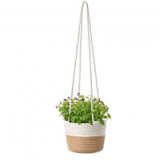 Cotton rope hanging flower pot woven plant basket Indoor flower pot Indoor plant hanger Modern storage storage