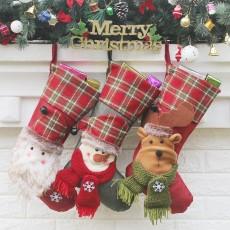 New Christmas socks, gift bags, Christmas tree decorations, Christmas gifts, high-end Santa socks, 3 sets