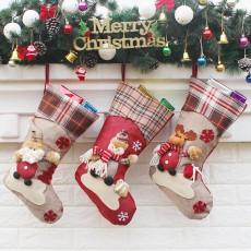 Christmas decorations and decorations New Year gifts Santa Claus snowman socks Christmas socks gift bag 3-piece set