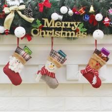 Christmas sock gift bag Christmas tree decorations Christmas decorations Christmas supplies Christmas tree pendants 3-piece set
