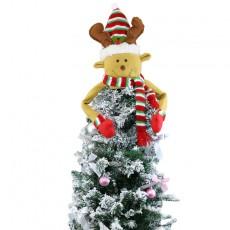 Christmas tree top star old man snowman ornaments Christmas supplies felt Christmas tree hat pendant ornaments