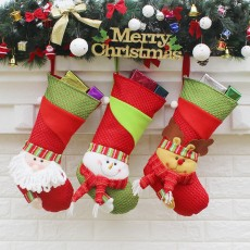 Christmas tree pendant Santa socks Christmas decoration Christmas tree pendant 3-piece set