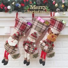 Christmas decoration pendant Christmas decoration candy bag Santa Claus socks bag Christmas socks gift bag 3-piece set