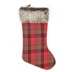 Christmas Checkered Plush Socks Christmas Ornaments Christmas Pendant Party Decoration Road Christmas Socks Gift Bag