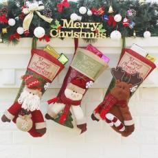 Christmas socks gift bag Christmas ornaments large high-end Christmas socks gift candy socks 3-piece set