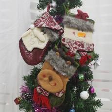 Medium Three-dimensional Christmas Ornament Christmas Gift Bag Christmas Socks Candy Bag Snowman Deer Gift Bag 3 Piece Set