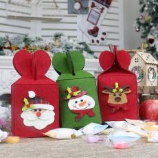 Foldable Apple Gift Packaging Bag Creative Non-woven Bag Christmas Christmas Decoration Gift Bag Set of 3