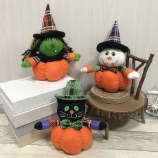 Halloween decoration ornaments pumpkin doll ghost festival bar dance party mall hotel gift gift dress up supplies 3 piece set