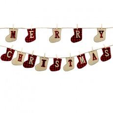 Christmas banner MERRY CHRISTMAS Christmas decoration pull flag Christmas pendant 2 pieces sold