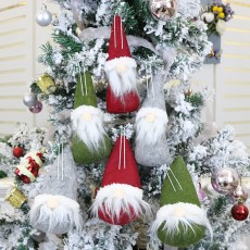 Christmas ornaments small hanging doll gift pendant Christmas tree pendant supplies Christmas faceless doll gift set of 6